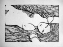 I met her once, the Sensual Ocean, She lured me with her lover's watery caress, I never noticed she had drowned me
